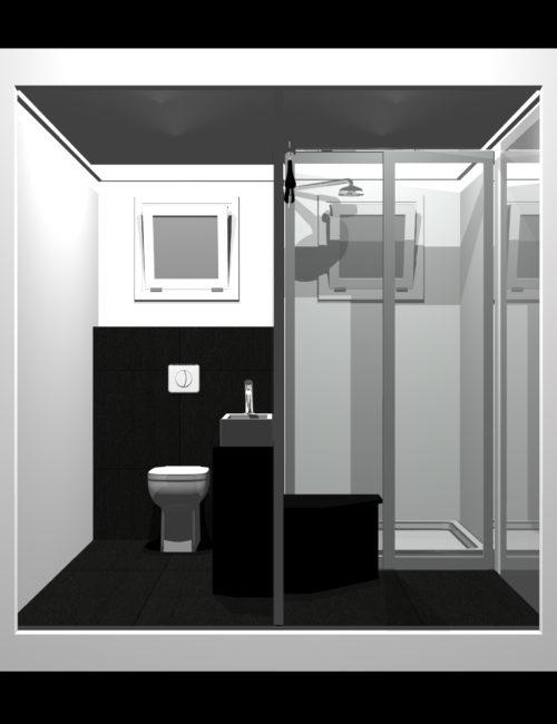 Progettazione bagno doccia monoblocco