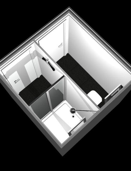 Progettazione bagno doccia prefabbricato