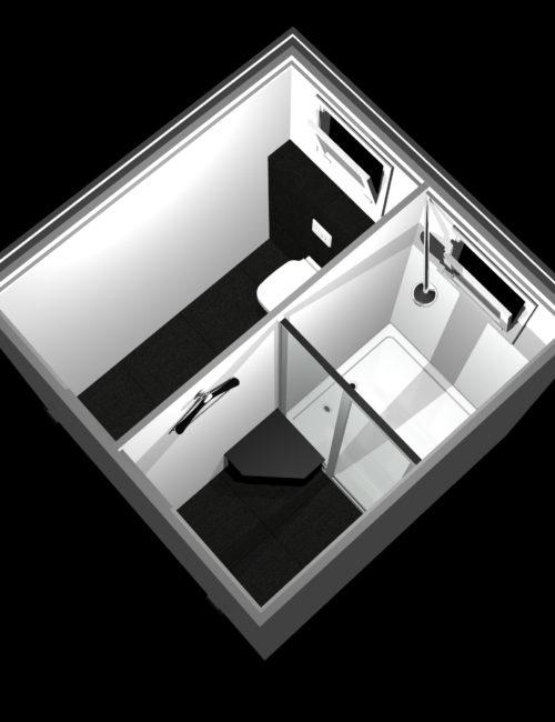 Produzione bagno doccia prefabbricato